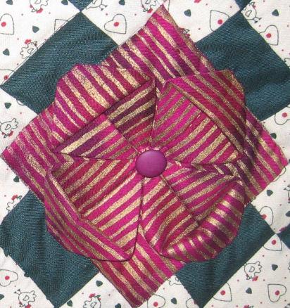 Folded flower detail