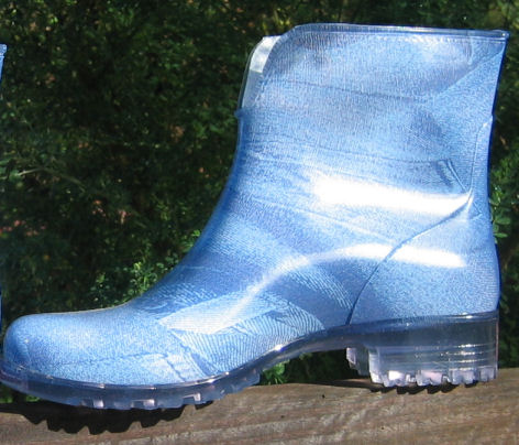 Denim-look rain boot