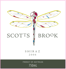 Scotts brook wine label