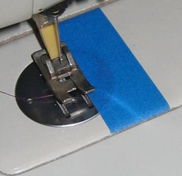 Quarter inch mark with painter's masking tape