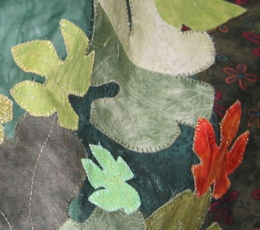 Some leaves with blanket stitch