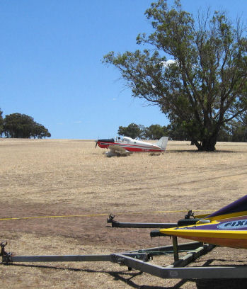 Plane in wheat field