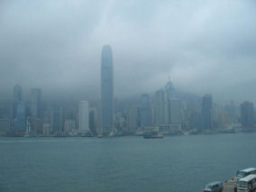 Hong Kong in the rain
