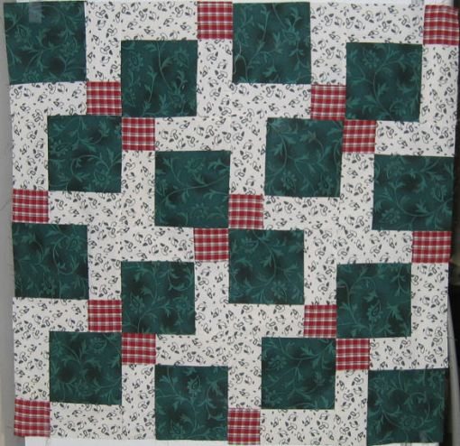 Disappearing 9 patch blocks - cut, rotated, and sewn back together