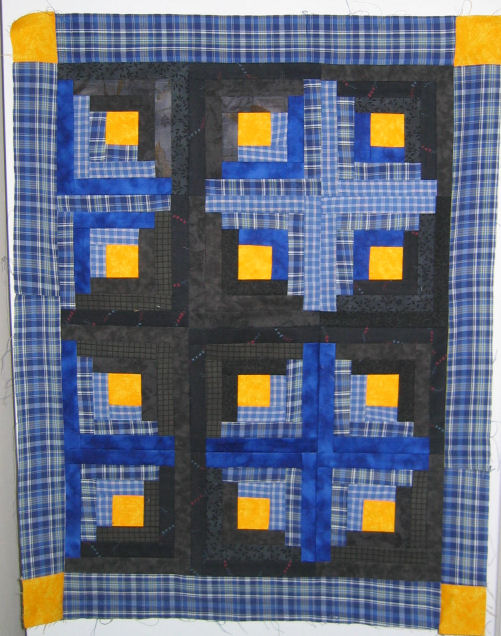 Mini log cabin quilt 2