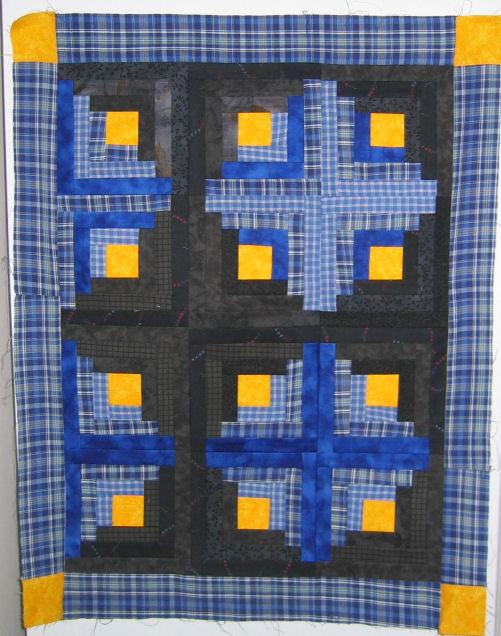 Mini log cabin quilt 2