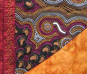 Gold metallic embroidery