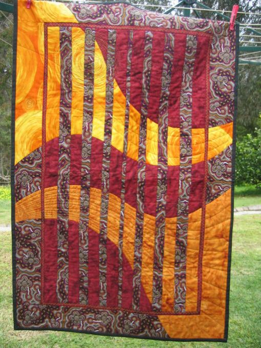 Sun and Earth convergence quilt