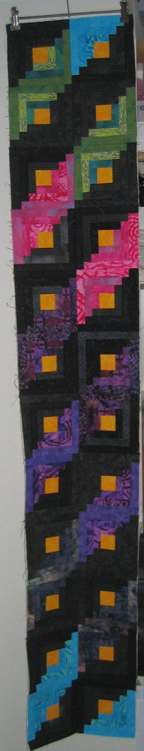 Two-block strip of 12 blocks