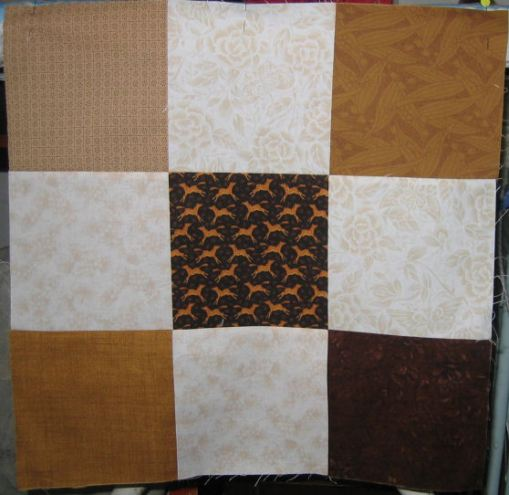 9-patch of 6.5 inch squares