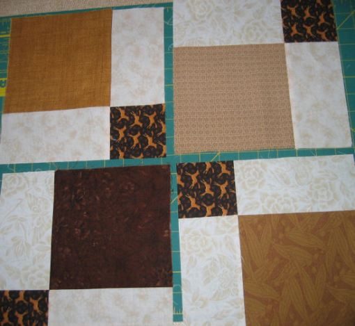 Turn two diagonally opposite patches 180 degrees