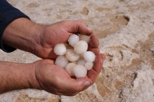 Hailstones the size of small eggs