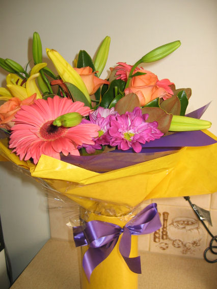 'Thank you' flowers from the Brisbane team