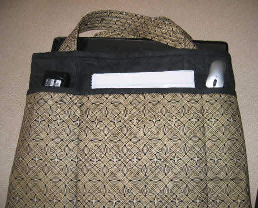 Quilted laptop bag (2/6)
