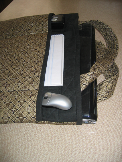 Quilted laptop bag (3/6)