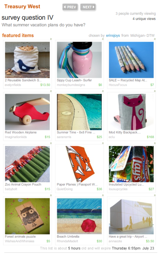 'Beach umbrella' featured in this Etsy Treasury