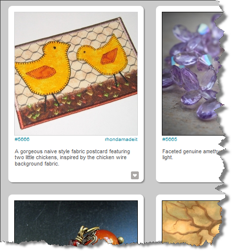 """Two little chicks"" as featured on CraftGawker"