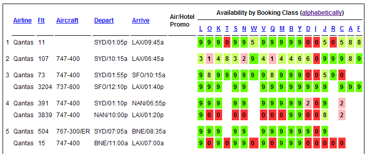 Find out how many seats are left on a flight