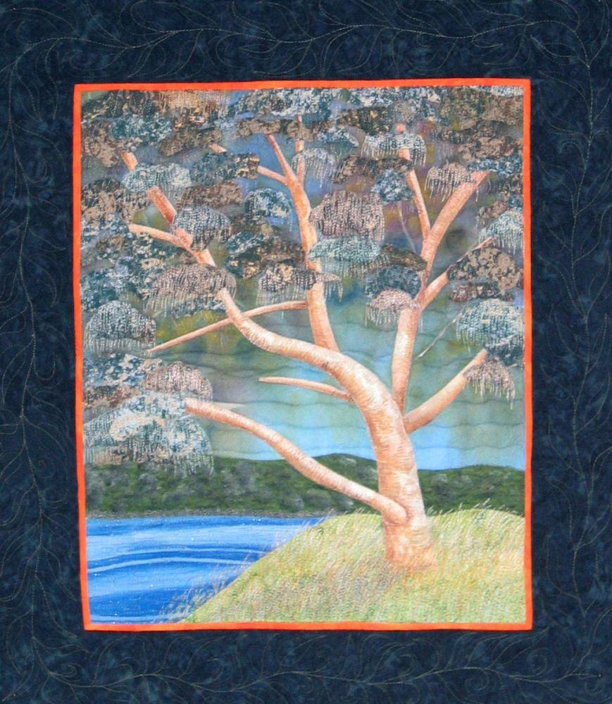 Estuarine eucalypt art quilt finished (1/6)