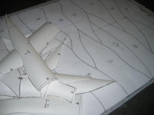 Freezer paper shapes