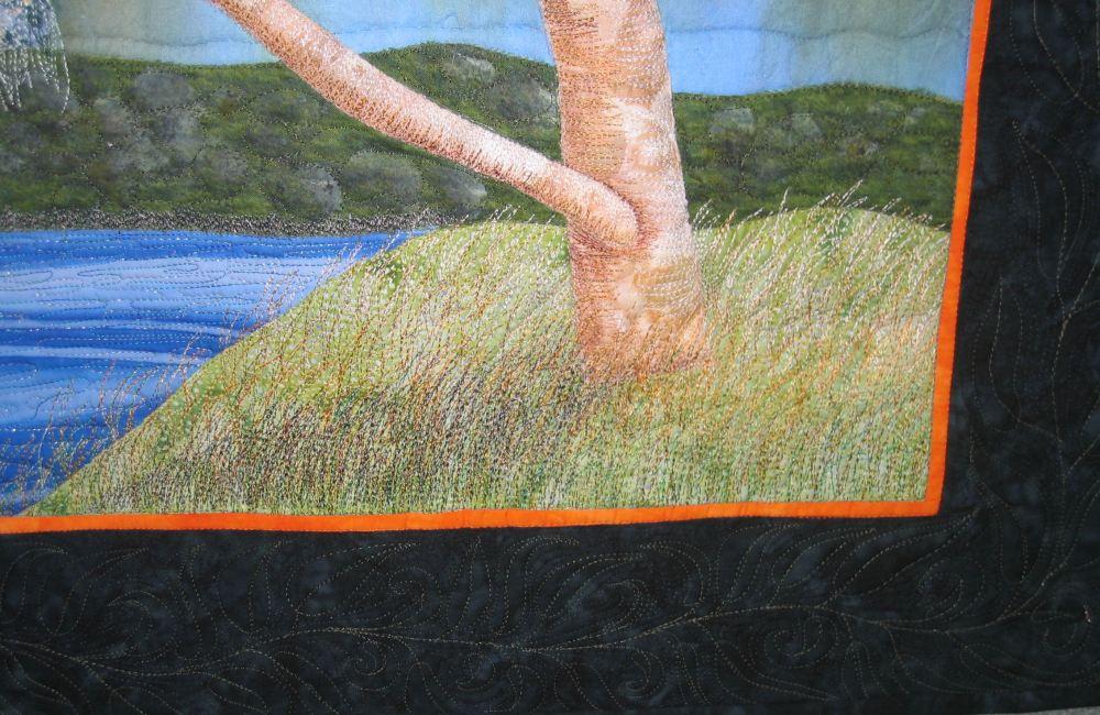 Estuarine eucalypt art quilt finished (4/6)