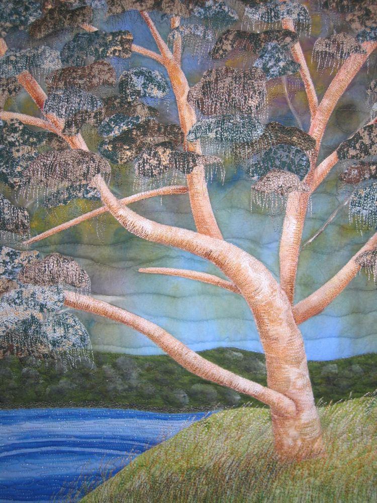 Estuarine eucalypt art quilt finished (2/6)