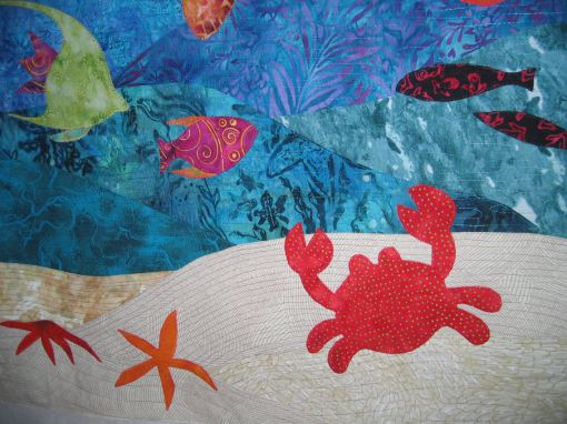 More appliqued marine creatures