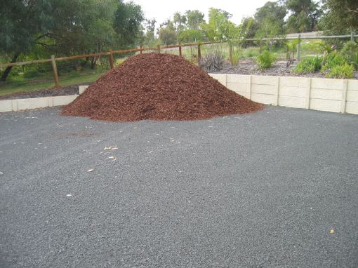 Mulch at the back -- first load