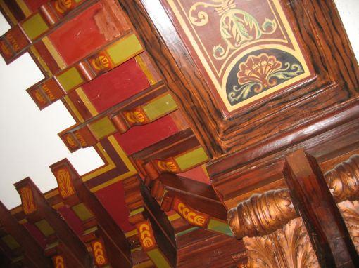 Lobby ceiling -- cornice detail