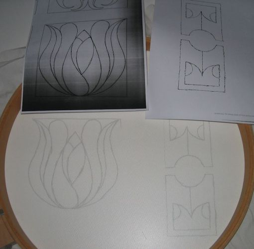 Photocopied designs and transfer onto tulle
