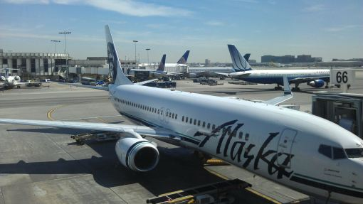 View from the Alaska airlines 'Board Room' at LAX
