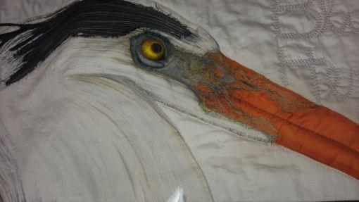 Blue heron quilt