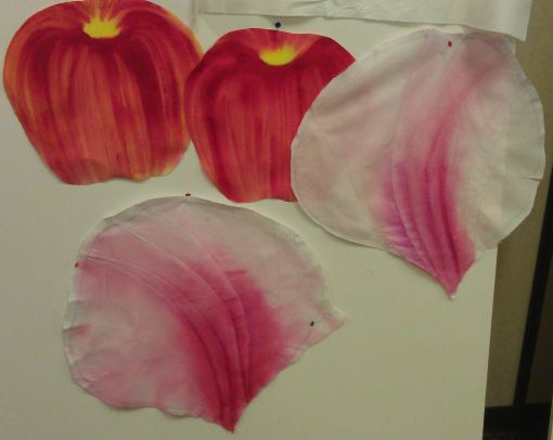 Two petals painted