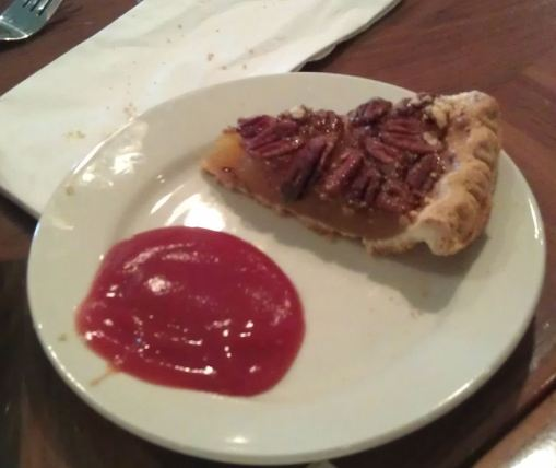 Tomato ketchup with pecan pie???