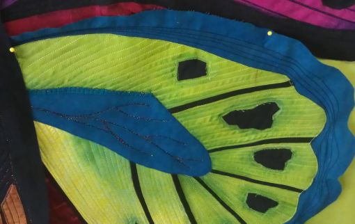 Close-up of Suzanne's butterfly