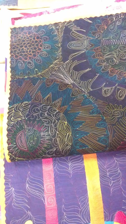Another of Robbi's sample quilt backs