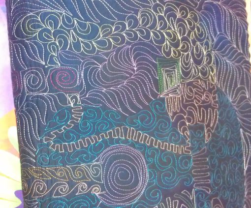 Back of one of Robbi's sample quilts