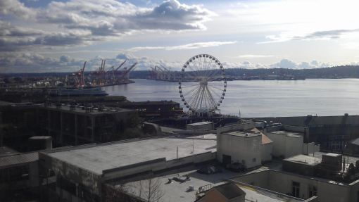 View of Seattle from 3rd floor at Lowells, Pike Place Markets