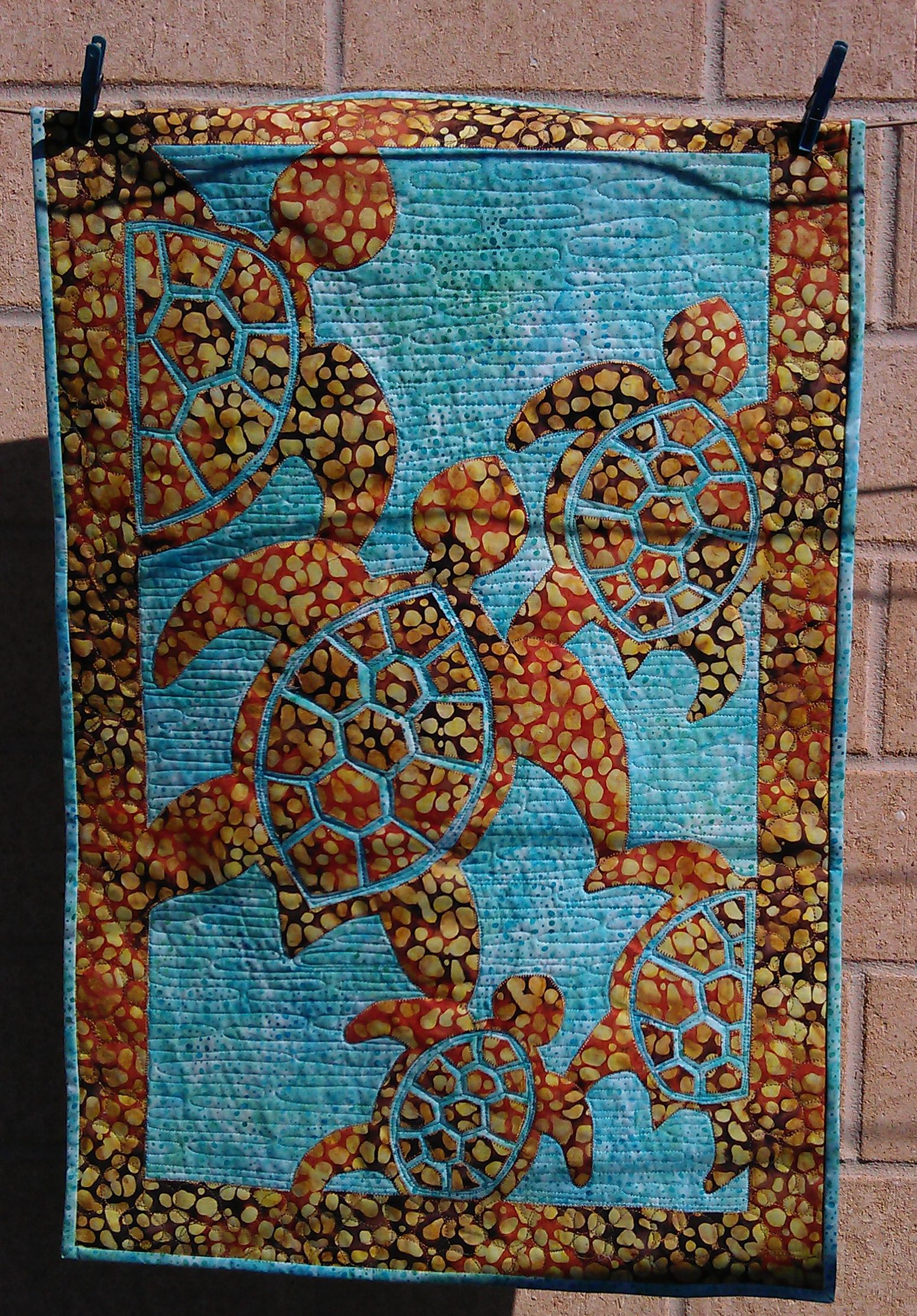 Quilt Patterns With Turtles : Turtle quilt Rhonda Bracey: At Random