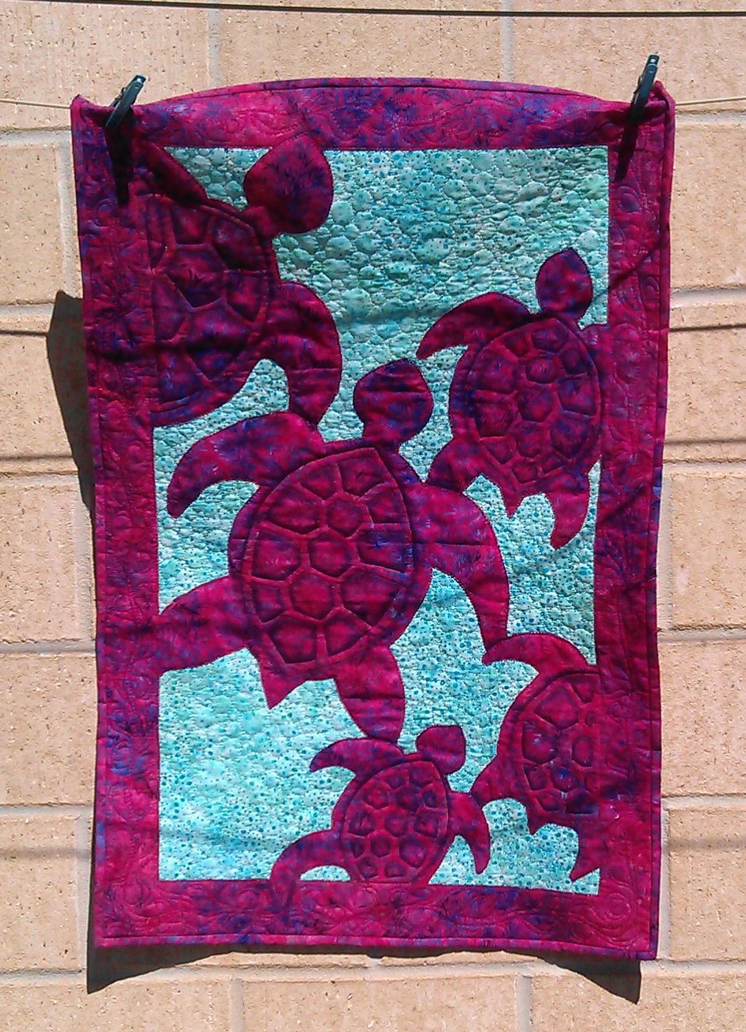 Quilt Patterns With Turtles : Turtle Quilt 3 Rhonda Bracey: At Random