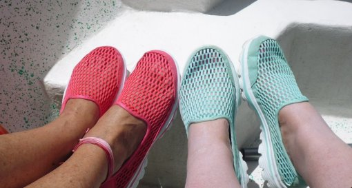 Skechers Go Walk shoes (mesh). BEST. WALKING. SHOES. EVER.
