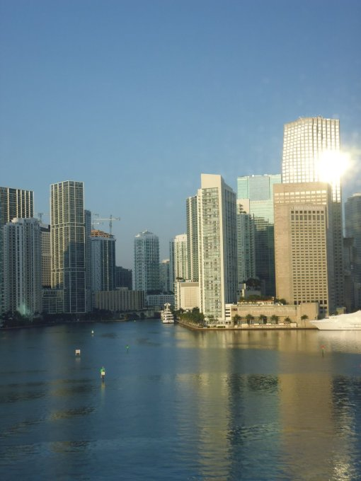 Downtown Miami from the ship, while waiting to disembark