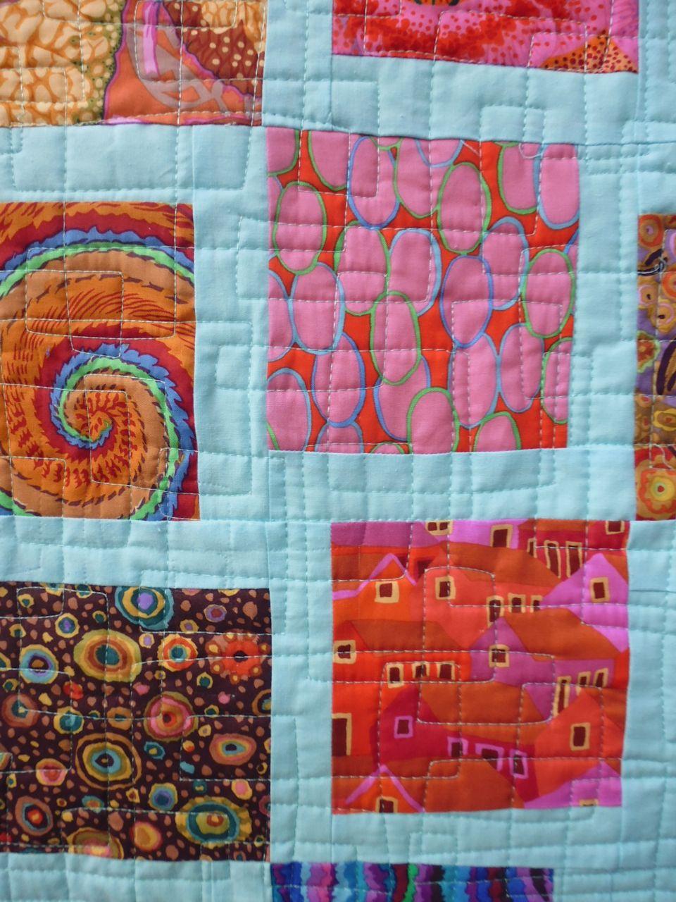 Baby Quilt Kaffe Fassett Fabrics Rhonda Bracey At Random