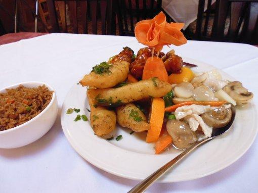 Chicken Threee Ways, Chen Yang Li Chinese and Japanese Restaurant, Bow, New Hampshire