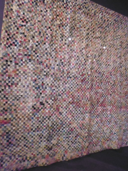 Quilt made in the 1800s -- half-inch squares!