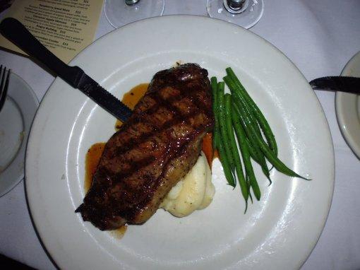 New York Strip Steak, Carr's Restaurant, Lancaster, PA