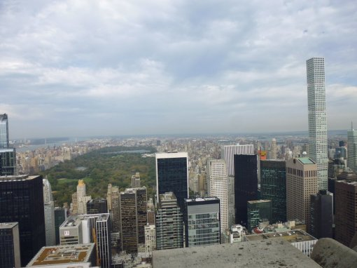 View over Central Park from the Rockefeller Center