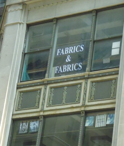 This is really the name of the business. And in case you didn't see it the first time, it was on several different windows on the 2nd floor.