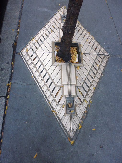 Not a sewer, but a beautiful art deco way to surround a street tree in NYC