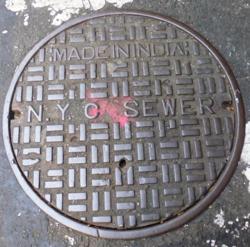 NYC is full of people from all over the world -- our Indian sewer is buried here